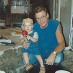 Stever Rice, owner, with best helper, grandson, Hunter.